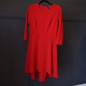 NWT. The Limited. Red 3/4 sleeve dress. Size M.